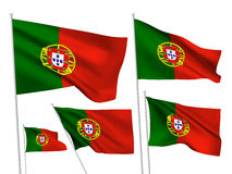 Portugal vector flags Royalty Free Stock Photo