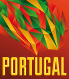 Portugal - Vector geometric background Royalty Free Stock Photography