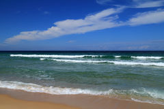 Portugal, verlaten strand Stock Afbeeldingen