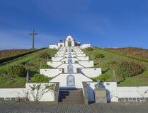Portugal, VILA FRANCA DO CAMPO, Sao Miguel, Azores, December 20, 2018: The Marian sanctuary of Nossa Senhora da Paz, Our royalty free stock photo