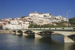 Portugal, vista de la ciudad de Coimbra Foto de archivo