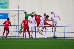 Portugal vs Danmark (Under-19) Arkivfoton