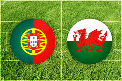 Portugal vs Wales Royalty Free Stock Image