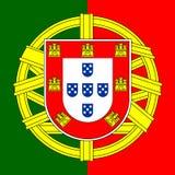 Portugal-Wappen Stockbild