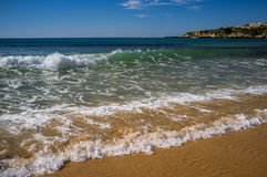 Portugal waves. The beautiful blue ocean of Portugal Royalty Free Stock Images