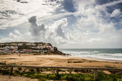 Portugal west coast atlantic ocean village Royalty Free Stock Image