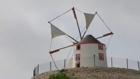 Portugal windmill stock video footage