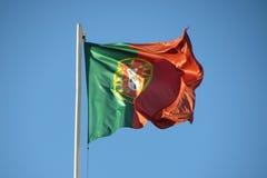 Portugalczyk flaga Zdjęcie Royalty Free