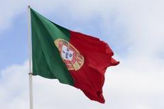Portugalczyk flaga Zdjęcia Stock