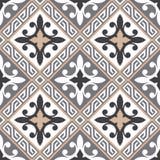 Portugalczyka wektoru dachówkowy wzór Zdjęcia Royalty Free
