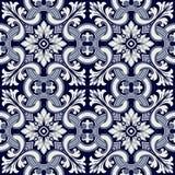 Portugalczyka wektoru dachówkowy wzór Zdjęcie Royalty Free