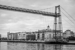 Portugalete pending bridge Stock Images