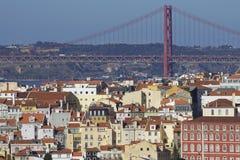 Portugalia: Budynki w środkowym Lisbon Fotografia Royalty Free
