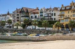 Portugalia Cascais - miasto i port morski lokalizować nie daleko od Lisbon obraz royalty free