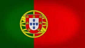 Portugalia flaga Zdjęcia Royalty Free