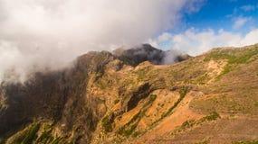 Portugalia, madera, widok góry blisko Pico De Arieiro antena Obraz Stock