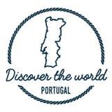 Portugalia mapy kontur Rocznik Odkrywa świat royalty ilustracja