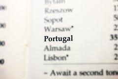 Portugalia słowo na papierze Obraz Royalty Free