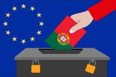 Portugalia tajnego głosowania pudełko dla Europejskich wyborów zdjęcie royalty free
