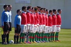 Portugals U17 landslag Arkivbild