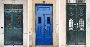 Portugalscy drzwi od Lisbon, Portugalia Obrazy Stock