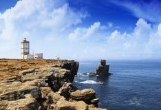 Portugalska latarnia morska obraz royalty free