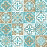 Portugalski azulejo ceramicznej płytki wzór royalty ilustracja