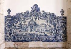 Portugalski błękit Tafluje Azulejos Sao Vincente de Dla A Obrazy Stock