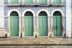 Portugalski Brazylijski Kolonialny architektury Sao Luis Brazylia Zdjęcia Royalty Free