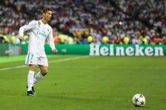Portugalski fachowy futbolista Cristiano Ronaldo obraz royalty free