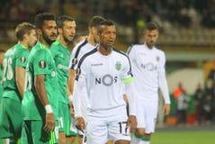 Portugalski fachowy futbolista Nani zdjęcie stock