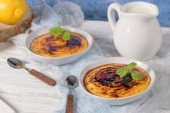 Portugalski leite creme zdjęcie stock