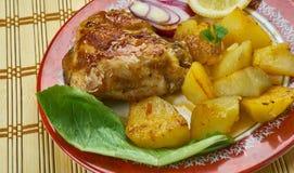 Portugalski Pieczony kurczak Fotografia Royalty Free