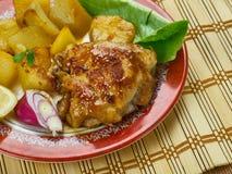 Portugalski Pieczony kurczak Obraz Stock