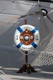 Portugalski statku wojennego Creoula znak obrazy royalty free