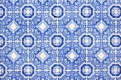 Portugalskich dekoracj nazwani azulejos Zdjęcie Royalty Free