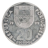 Portugalskiego escuda moneta Obrazy Royalty Free