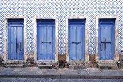 Portugees Braziliaans Koloniaal Architectuursao Luis Brazil Stock Afbeeldingen