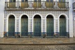 Portugees Braziliaans Koloniaal Architectuursao Luis Brazil Stock Foto