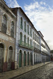 Portugees Braziliaans Koloniaal Sao Luis Brazil van Architectuurrua Portugal Stock Afbeelding