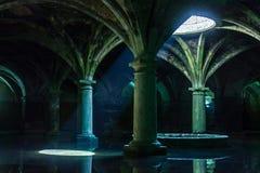 Portugees reservoir Het reservoir van Gr Jadida, Marokko Oude Europese Historische Gebouwen in Marokko Stock Afbeeldingen