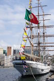 Portugees tall ship NRP Sagres Royalty Free Stock Photo