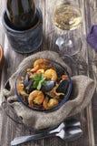 Portugese πιάτο θαλασσινών paella de marisco Arroz Στοκ εικόνα με δικαίωμα ελεύθερης χρήσης