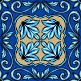 Portugese azulejokeramische tegel royalty-vrije illustratie