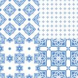Portugese azulejotegels Naadloze patronen Royalty-vrije Stock Afbeeldingen
