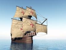 Portugese Caravel royalty-vrije stock afbeelding