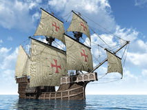 Portugese caravel Royalty-vrije Stock Foto