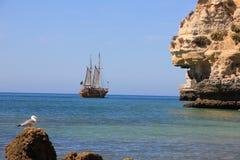 Portugese carvoeiro van het Schip Caravel Royalty-vrije Stock Afbeelding