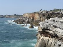 Portugese coastal scenery Royalty Free Stock Images