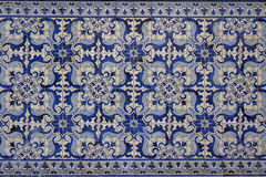 Portugese decorative tiles in the old house Stock Photo